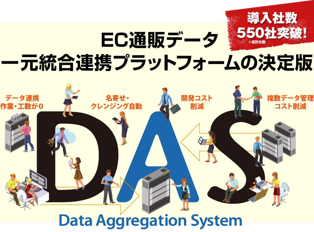 EC通販データ一元統合連携プラットフォームの決定版 DAS